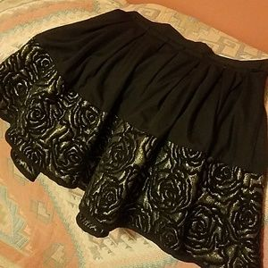 Mini Skirt with Rose Detail